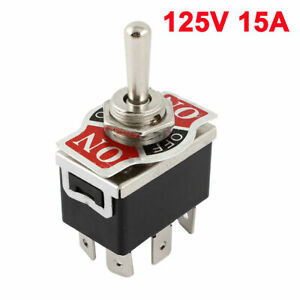 Car 6 Pin 3 Position Momentary On always Off momentary On Toggle Switch 125v 15a