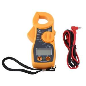 Digital Lcd Clamp Multimeter Ohm Amp Volt Meter Ac dc Current Resistance Tester