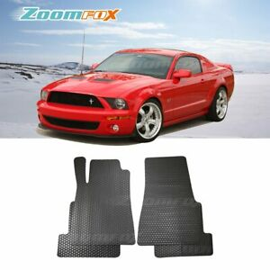 Fit 2005 2009 Ford Mustang Black All Weather Rubber Floor Mats Liners Front Rear