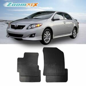 Fit 2009 2013 Toyota Corolla Black All Weather Floor Mats Liners Front Rear