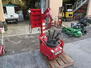 Hunter Tc 3250 Tire Changer Model 10252 W Side Arm Rim Clamp Air Powered