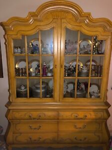 Vintage Bombay China Cabinet Hutch By Drexel French Country Local Pickup Only