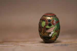 Antique Japanese Ojime Cloisonne Pillbox Sagemono