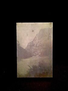 Vintage Letterpress Wood Block Printers Plate Snake River In Hells Canyon