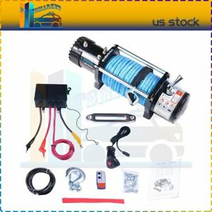 13000lbs Off Road Electric Towing Winch 85ft Synthetic Cable Fit Jeep Truck Suv