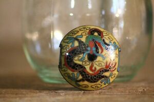 Antique Japanese Cloisonne Sagemono Dragon