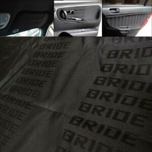 1mx1 6m Black Bride Fabric Cloth Jdm Car Seat Cover Panel Armrest Interior Decor