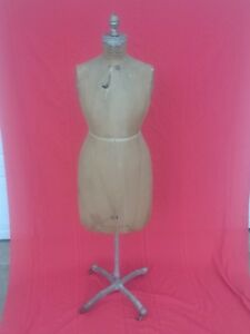 Vintage J r Bauman Normal Model dress Form W Display Stand 14 1944