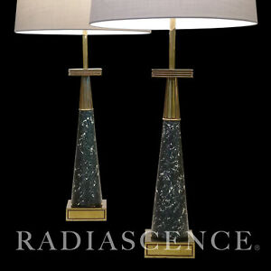 Stiffel Atomic Modern Brass Tommi Parzinger Table Lamps Jackson Pollock 1950 S