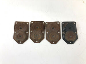 4 Leg Angled Brackets Set Vintage Furniture Stool Mid Century Modern Metal Peg