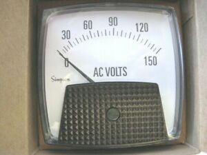 Simpson 47200 Electric Analog Panel Meter 0 150 Vac Big Vue Series