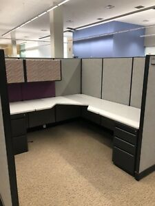 7 1 2 X 7 1 2 Cubicles Partitions By Haworth Office Furniture