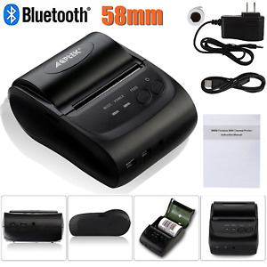 58mm Wireless Bluetooth Mobile Thermal Receipt Printer Portable For Android Iso