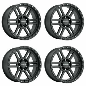 Set 4 18 Vision Off Road 354 Manx 2 Black Wheels 18x9 5x150 12mm Truck Rims