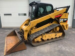 2016 Cat 299d2 Track Skid Loader 2 speed Heat A c High Flow Camera Quick Attach