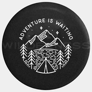 Spare Tire Cover For Jeep Wrangler Camper Rv Jk Tj Yj Adventure Is Waiting