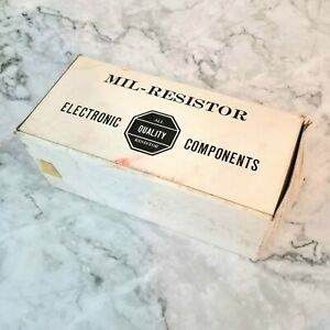 Vintage Mil resistors Electronic Components All Quality Resistors new In Box