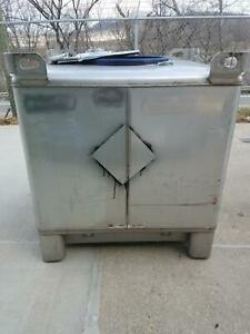 Used 350 Gallon Stainless Steel Tote Ibc Tank Precision Ibc Sku B3