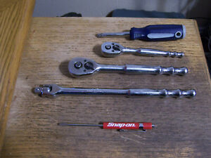 Blue Point Tools 1 4 3 8 Drive 3pc Quick Release Ratchet Set Snap On