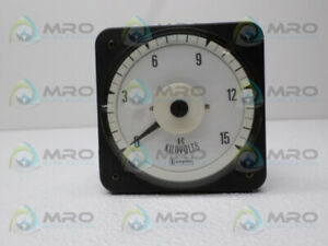 Crompton 077 05ga rswc c6 Panel Meter 0 15ac Kilovolts New No Box