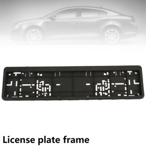 Euro License Plate Tag Holder Mount Adapter Bumper Frame Bracket Auto Car Truck
