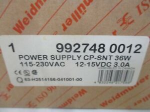 Weidmuller 992748 0012 Cp snt Power Supply New In Box