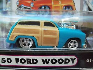 Muscle Machines 1950 50 Ford Woody Supercharged 164 Diecast Model