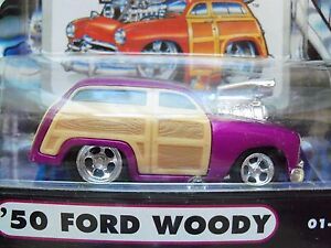 Muscle Machines 1950 50 Ford Woody Purple 164 Diecast Model