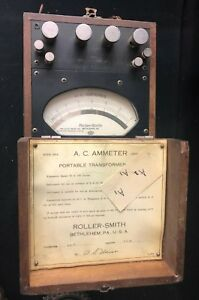 Vintage Roller smith Type Npa Serial 365141 A c Ammeter With Case