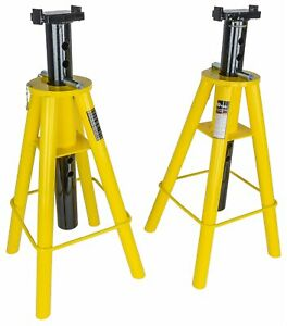 Jegs 80078 10 Ton Jack Stands Minimum Height 28 750 In Maximum Height 46 875