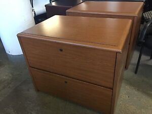 2dr 36 w Lateral File Cabinet By Kimball Office Furn In Cherry Laminate
