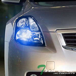 Topline For 2007 2009 Nissan Altima Sedan 10000k Hid Xenon Blk Headlights Signal