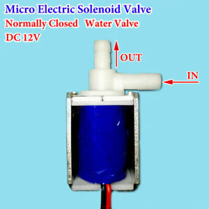 1x Dc 12v Volt Micro Electric Solenoid Valve Water air Mini Normally Closed Kit