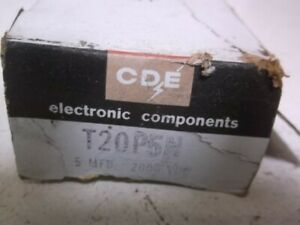 Cde T20p5n Capacitor New In Box