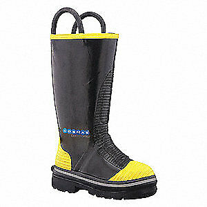 Cosmas Java Insulated Fire Boots 10 1 2w steel pr E780090w 105 Black yellow
