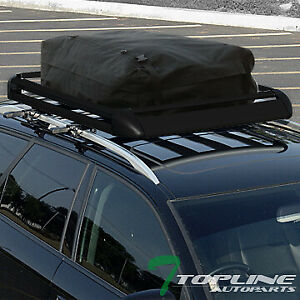 50 Blk Aluminum Roof Rack Basket Car Top Cargo Baggage Storage carrier Bag T01