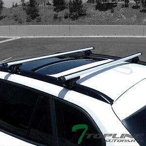 Universal 50 Silver Oval Roof Top Rail Rack Tube Cross Bars Cargo Carrier T9