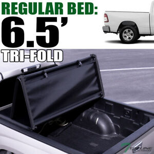 Topline For 2019 2020 Dodge Ram 6 4 6 5 Bed Tri Fold Soft Vinyl Tonneau Cover