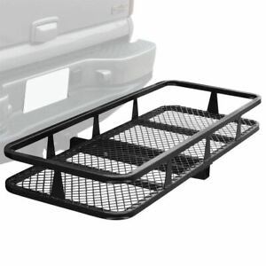 Hitch Mounted 50 Cargo Carrier Storage Basket 500lb Capacity