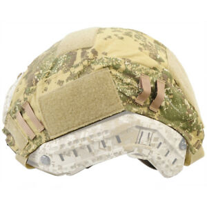 Military Hunting Tactical Helmet Cover for Ops-Core Fast Helmet Badland Camo