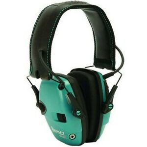 Howard Leight R 02521 Impact Sport Electric Teal Earmuffs Hearing Protection