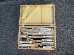 Chuan Brand 0 6 Micrometer Set W Box Wrenches Standards 0001