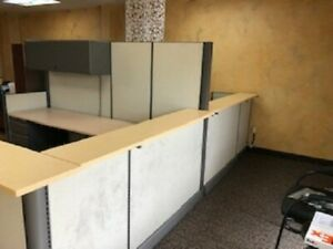 2 Receptionist business Office Cubicles