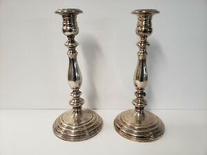 Pair Of Vintage Gorham Sterling Silver 10 Candlesticks Pre Owned