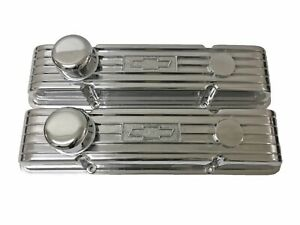 Polished Small Block Chevy Valve Cover With Chevrolet Logo
