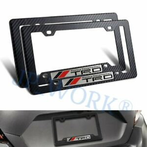 Jdm Trd Racing Emblem W Abs License Plate Frame For Toyota Supra Mr2 Tc Tundrax2