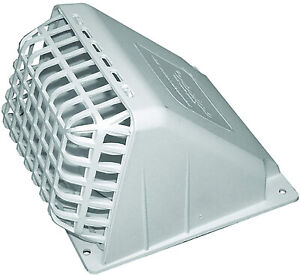 Deflecto Wide Mouth Dryer Vent Hood With Removable Bird Guard Damper Weather r