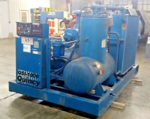 Quincy Qsi 1000 200 Hp Screw Air Compressor 1000 Cfm 125 Psi Air Cooled