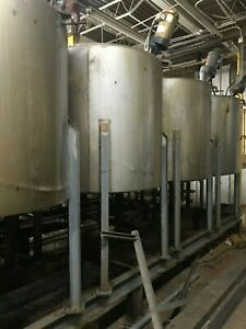 350 Gallon Stainless Mixing Tank With Mixer 10 Available On Steel Legs