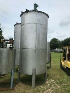 1500 Gallon Vertical Stainles Steel Mixing Bridge Tank Lighnin Mixer 2 Available